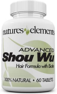 Advanced Shou Wu for Gray Hair - Prepared Chinese Herb Stimulates Hair Growth - 700mg Tablets - All The Benefits of Origin...