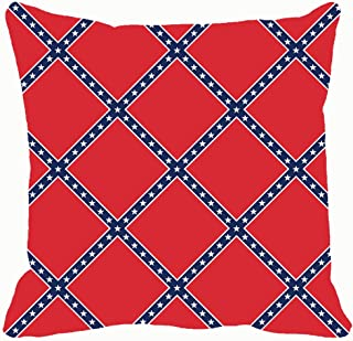 funny dog Throw Pillow Covers 18x18,Seamless red Blue White Stars Geometric Backgrounds Textures Confederate Backgrounds Textures Vintage Confederate Vintage