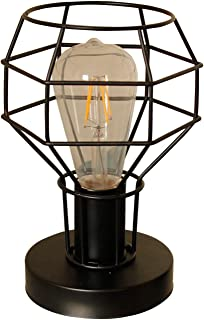 Magland Small Lamp Retro Industrial Lamps Metal Shade Table Lamp Black UL Listed