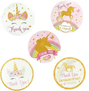 Birthday Round Circle Labels Stickers Thank You Party Favors Pink and Glitter Theme Party Decoration Suppliers