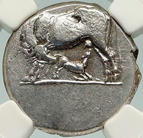 1000 GR ILLYRIA King Monounios DYRRHACHIUM Rare AR Greek Stater Ch XF NGC