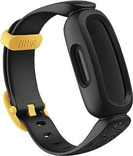 Fitbit Ace 3 barnspårare, Minions officiella Fitbit tillbehör silikonband, svart