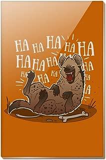 Laughing Hyena Rectangle Acrylic Fridge Refrigerator Magnet