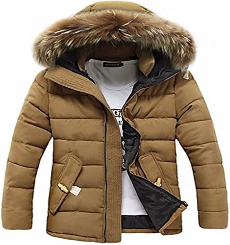 ZHUDJ Hommes Manteau Rembourré Ordinaire Simple,Tous Les Jours Solid-Cotton Occasionnels à Manches Longues en Coton