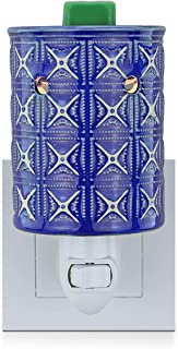 STAR MOON Pluggable Fragance Ceramic Wax Melt Night Light Warmer No fire Hazard Packed with Two Bulbs - Retro Blue Kaleidoscope