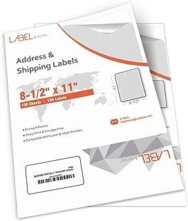 Full Sheet Labels for Laser and Inkjet Printer 8.5x11