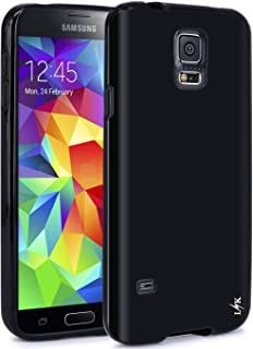 LK Case for S5, Ultra [Slim Thin] Scratch Resistant TPU Gel Rubber Soft Skin Silicone Protective Case Cover for Samsung Galaxy S5 (Black)