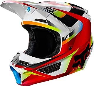 FOX V1 Motif Motocross Helm Rot/Weiß XXL
