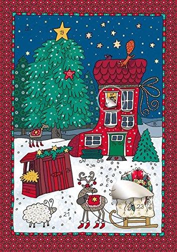 Das Weihnachtshäuschen: Adventskalender mit Fensterfolie