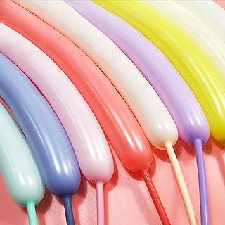 بالونات طويلة من غواسلي لحيوانات البالونات الملتوية - 100 قطعة من البالونات الملونة بحلوى الماكرون 260Q طقم بالونات السحري...