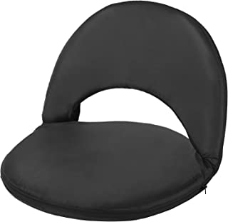 Harper & Bright Designs 5-Position Folding Chair Recreation Reclining Seat with Shoulder Strap Portable Adjustable Recliner (Black)