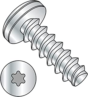 #10-32 Thread Size 1//4 Length 1//4 Length Zinc Plated Pack of 100 Hex Washer Head Small Parts 1104RW Steel Thread Rolling Screw for Metal Pack of 100