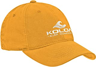 Koloa Embroidered Wave Logo Unstructured Soft Hats. Low Profile Adjustable Caps