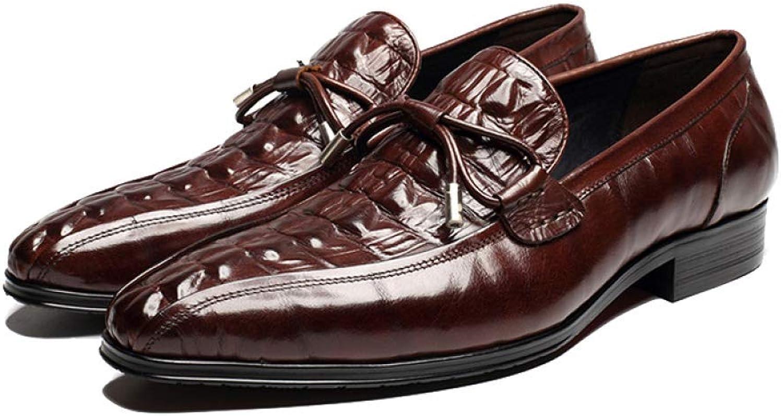 a260b27c185c4 NIUMT Autumn Autumn Autumn Business Pointed Men's Leather shoes Lazy ...