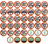 Two Rivers Coffee Decaf Coffee Pods, Compatible with 2.0 Keurig K-Cup Brewers, Assorted Regular and Flavored Decaffeinated Variety Sampler Pack, 40 Count