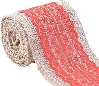 Large Toile de Jute de Hesse jute coton ruban largeur 60 mm x 3 mètres Rustique Décoration Cadeaux
