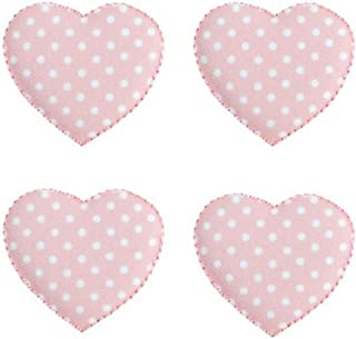 Expo Iron-on Embroidered Applique Patches, BaZooples Puffy Heart, 4-Pack