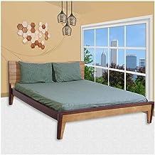 ملاءة سرير مثبتة من القطن الخالص 100% عدد الخيوط 250 مع اغطية وسائد من جاست لينين Queen JB024206Q