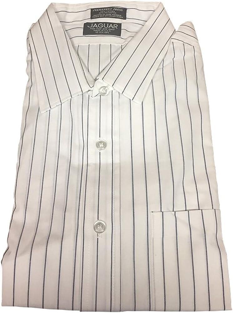 2X USA Made Premium Stripe Dress and Casual Shirt Permanent Press