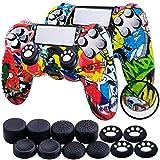 Th-some Fundas para Mando Sony PS4/ PS4 Pro/ PS4 Slim Dualshock 4, Silicona Camuflaje Carcasa Protectora Antideslizante para Play 4/ Playstation 4 (MulticolorB 2 Pcs)