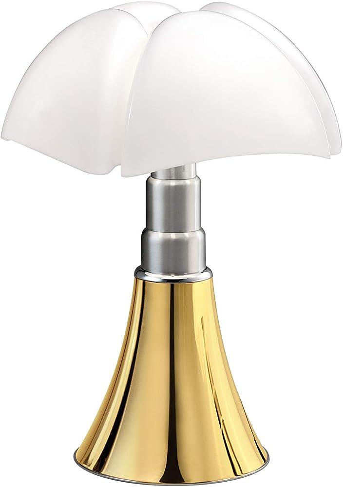 Martinelli luce pipistrello, lampada da tavolo,placcata oro 24k,acciaio e metacrilico 620/DIM/L/1/ORO