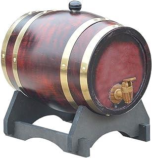 Tonneau à vin en Bois 3L Fût de chêne avec Robinet, Tonneau à vin en Bois Fût de Whisky Vintage Barrel, Peut être utilisé ...