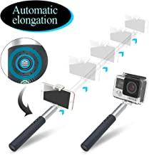 [Automatic Expansion] Selfie Stick Bluetooth,Button adjusts Length,Built-in Bluetooth Remote,-Mini Selfie Stick-Compatible with iPhone X 8 7 6s Plus Galaxy S9 S8 Edge S7 S6 Huawei Moto go pro