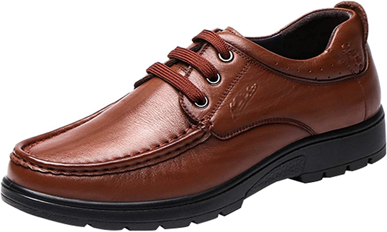 Hhor Derbies de Dentelle de Mode pour Hommes d'affaires Occasionnels Chaussures Confortables Sauvages (Couleuré   Marron, Taille   44EU)