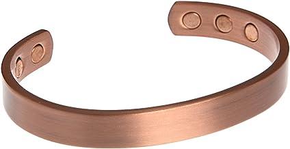 Kerdynelle Magneetarmband van puur koper, massief, 16 cm, bruin