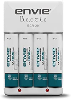 Envie Beetle Charger with Envie 4xAA Ni-Cd 1000 Mah Batteries