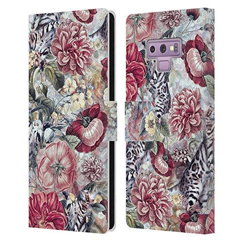 Head Case Designs Offizielle Riza Peker Blumiges Leben Abstrakte Tiere Leder Brieftaschen Handyhulle Hulle Huelle kompatibel mit Samsung Galaxy Note9 Note 9