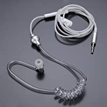 Docooler Anti-Radiation Earphone Air Tube Stereo Wire Cell Phone Headsets Monaural in Ear MIC Headphones with Earbud for iPhone Samsung MP3 Tablet PC