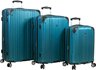 Dejuno Kingsley Abs 3-Piece Hardside Spinner Luggage Set-Turquoise