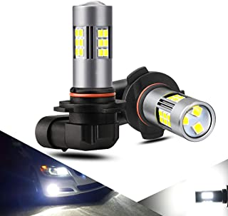 12 CSP Chips ZonCar 9005 // HB3 Led Headlight Bulbs 6500K Xenon White Extremely Bright Light 12V. 2 Pcs//Kit