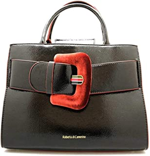 Bag C03042 Fabric Y41 Black Burgundy