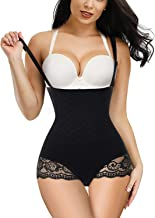 Irisnaya Women Seamless Bodysuit Thong Butt Lifter High Waist Trainer Panty Tummy Control Shapewear with Removable Straps