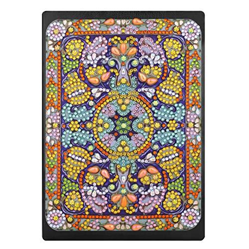 DIY 5D Diamant Notebooks Kinder A5, Schreiben Notizbuch Geheime Tagebuch Mädchen Skizzenbücher Erwachsene Notizblock A5 mit bunten 5D Diamant Kreatives Geschenk für Weihnachten Geburtstag Mandala