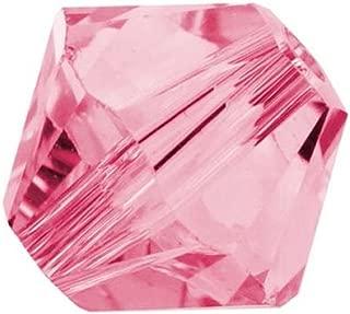 100pcs Preciosa Bicone Crystal Beads 6mm Rose Compatible with Swarovski Crystals 5301/5328 Pre-B637