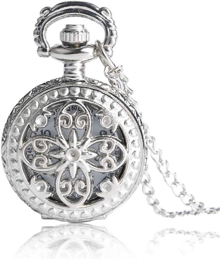 LLGBD Accessories Antiguo Vintage Hueco Mariposa Largo Colgante de Cuarzo Reloj Reloj Reloj Mujer