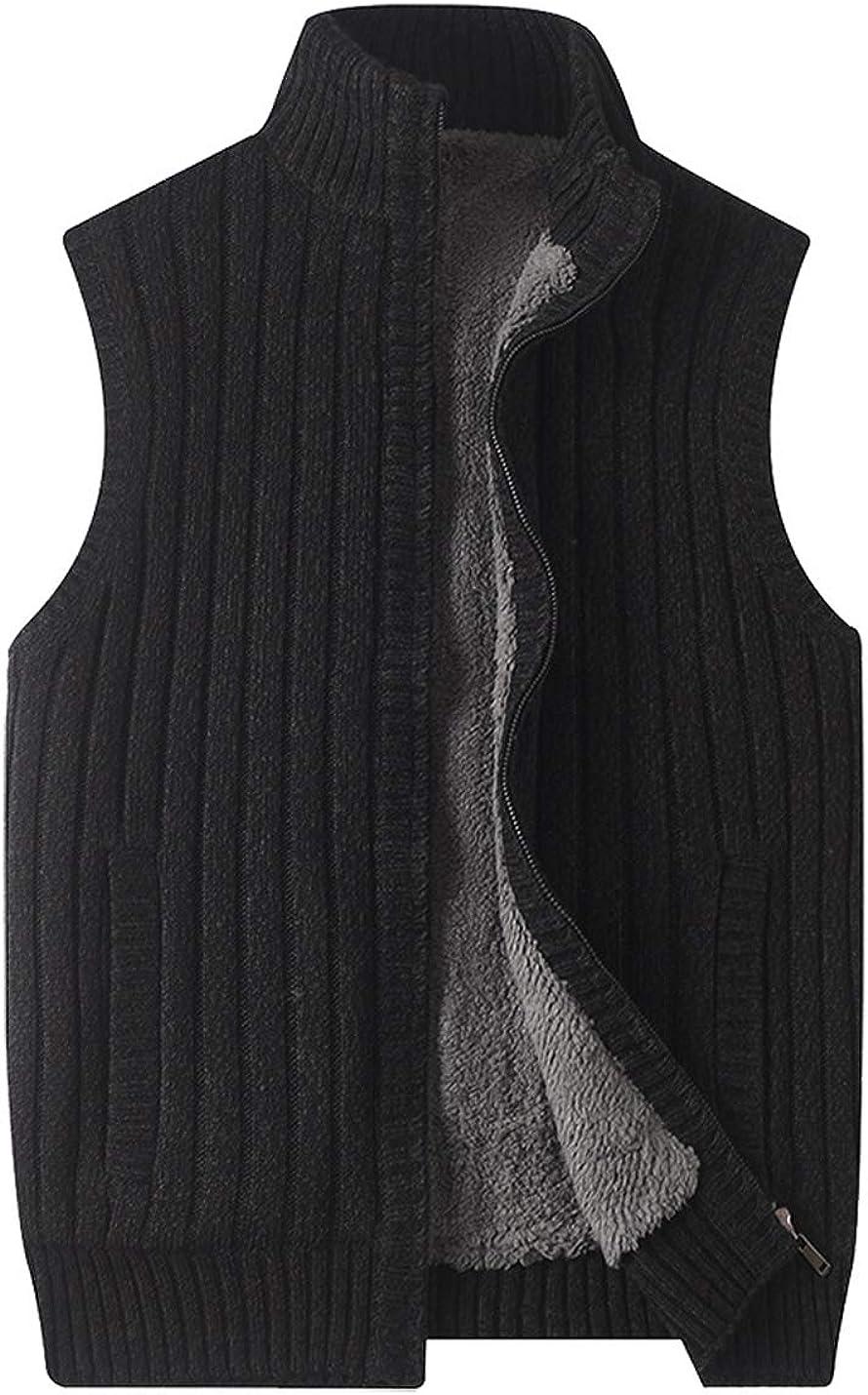 Hongsui Men's Clearance SALE! Limited time! V-Neck Sweater Vest Knit Loose-Fitt Blend Cashmere Sale special price