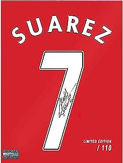 "Luis Suarez Liverpool F.C. Autographed 16"" x 12"" Number 7 Jersey Print - ICONS - Fanatics Authentic Certified"