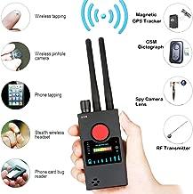 Anti Spy Camera Detector for Hidden Camera Laser Lens GSM Listening Device Finder Wireless RF Bug Detector Signal Radar Radio Scanner Wireless Alarm (Black)