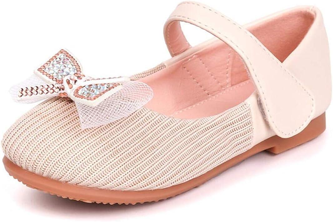 JGKDTX Toddler Girl Ballerina Flats Flower Girls Dress Shoes Mary Jane Slip on for Wedding Party Holiday Footwear