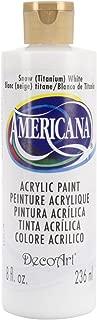 DecoArt DAO1-9 DA01-9 Americana Acrylics, 8-Ounce, Snow, Titanium White
