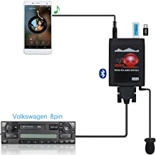 Bluetooth Car Adapter, Yomikoo Car MP3 USB/AUX 3.5mm Stereo Wireless Music Receiver Wireless Hands Free Auto Bluetooth Adapter for VW 8Pin Beetle Passat Jetta Polo Sharan Golf Skoda Seat ¡