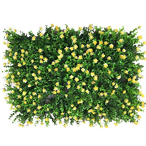 Ivy Leaf Hedge Screening Outdoor Garden Privacy Screen Wall Fence Panel UV Garden Trellis Panels, 40 x 60 cm