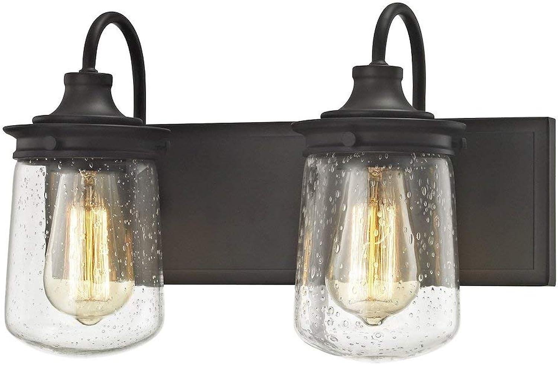 Elk Lighting 81211 2 Vanity-Lighting-fixtures, 10 x 15 x 7 , Bronze