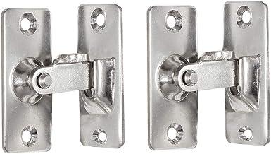 INCREWAY 2-Pack 90 graden deur Hasp Latch, roestvrij staal rechter hoek deurslot gespen gebogen Latch bouten schuifslot me...