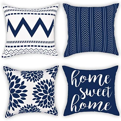 Gusgopo Throw Pillow Covers 18 x 18 Set of 4 Geometry Outdoor Square Pillow Cushion Cases Modern product image