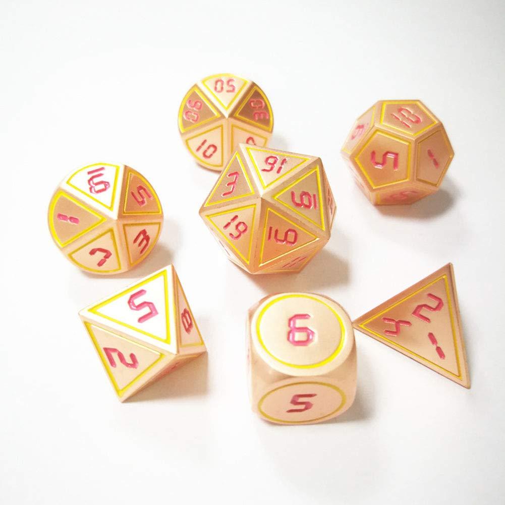 HIMA Juego de Pinzas de aleación de Zinc de poliedro para Juegos DND, RPG de Mesa, Mazmorras y Dragones, enseñanza de matemáticas, Juego de 7 Piezas: Amazon.es: Hogar